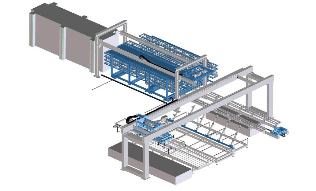 Impianto pressatura pannelli in poliuretano