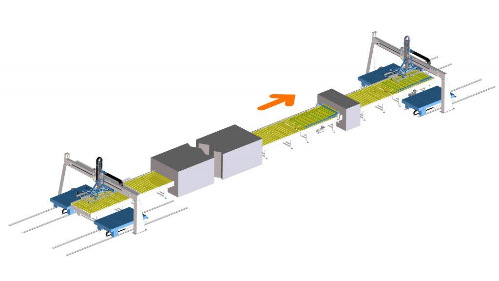Impianto verniciatura lamiere - STS automazioni