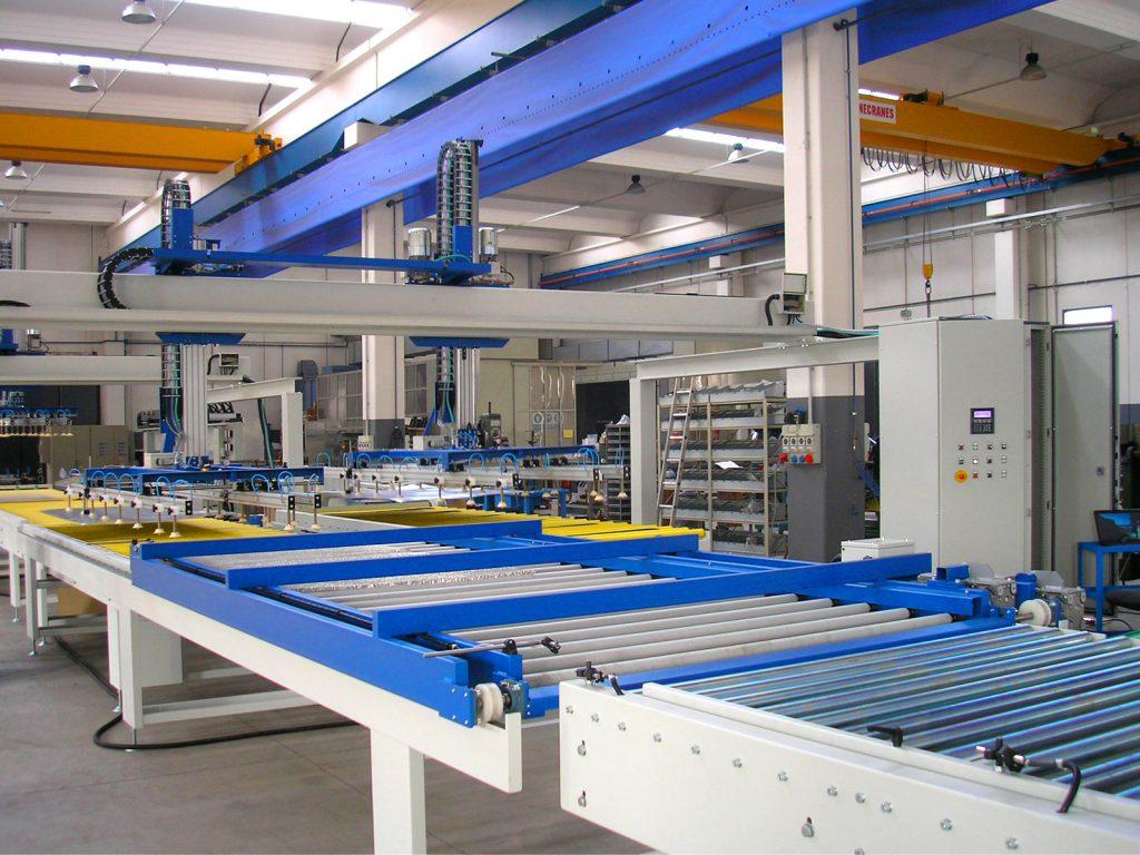 Impianto di produzione pannelli compositi