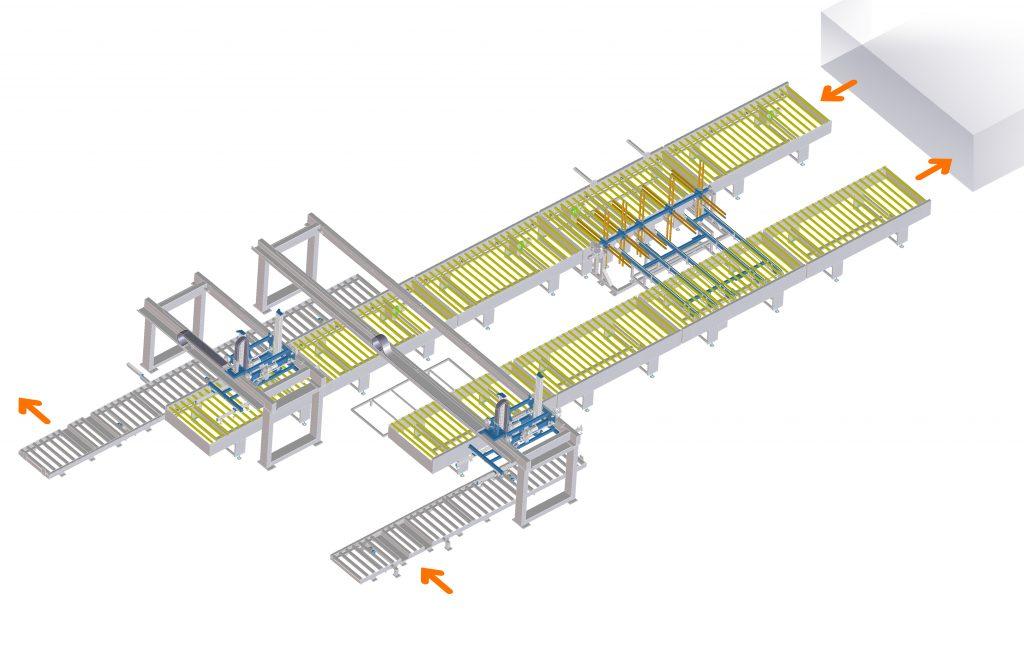 Impianto verniciatura pannelli