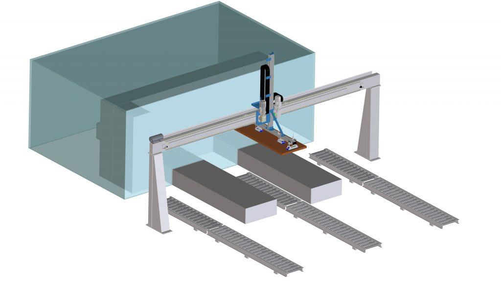 Manipolatore carico/scarico CNC